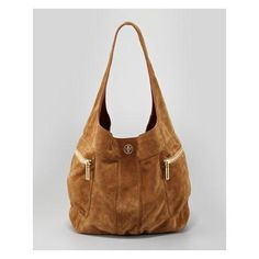 Tory Burch Vintage Motorcycle Suede Hobo Bag