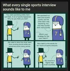 Sports interviews