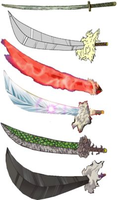 """The many forms of InuYasha's demon sword """"Tetsusaiga"""" - InuYasha there's rusty piece of crap , fang blade, barier breaker, adamant barrage, dragon scaled, and madozonggetzhouha"""