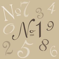 Wall Stencil | French Numbers Letter Stencil | Royal Design Studio