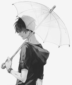 Hey, it's raining pretty heavy, you shouldn't be out by yourself. You want to come under my umbrella? I don't mind. *smiles*