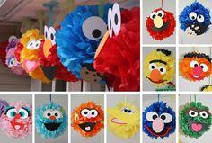 Sesame Street Pom Poms - This site has the face templates too!