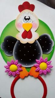 Aprende cómo hacer lindos toalleros para decorar la cocina ~ Belleza y Peinados Foam Crafts, Diy And Crafts, Paper Crafts, Sewing Projects, Projects To Try, Diy Y Manualidades, Chicken Painting, Holiday Crochet, Punch Art