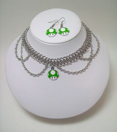 Hey, I found this really awesome Etsy listing at https://www.etsy.com/listing/152771676/super-mario-mushroom-necklace