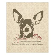 Chihuahua Dog My Sunshine Poem Fleece Blanket - home gifts ideas decor special unique custom individual customized individualized