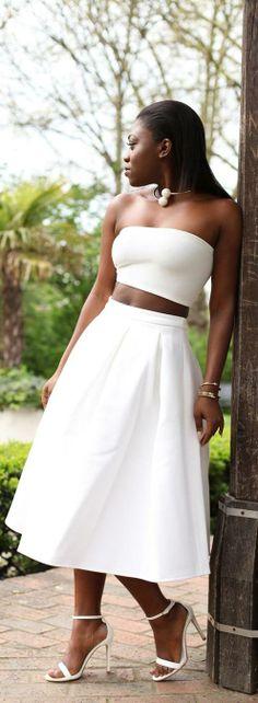 White Full Skirt by Mirror Me