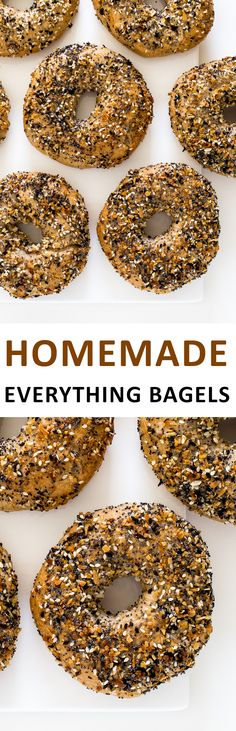 Homemade Everything Bagels. A lot easier to make than you think and so much better than store-bought! | chefsavvy.com #recipe #breakfast #everything #bagel #bread