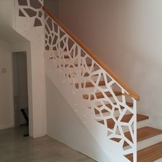 minimalism look we give the beautifulness of technology. Start from Rp Best Price in Indonesia For more info : 081340400555 (WA/call) Staircase Railing Design, Staircase Handrail, Balcony Railing Design, Iron Stair Railing, Home Stairs Design, House Design, Pooja Room Door Design, Balustrades, House Front Door