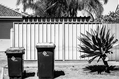 Bin Night in an Australian Suburb Adelaide Australia  November 2014