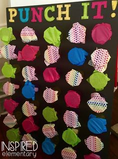 DIY classroom management PUNCH IT! board. Such a fun way to motivate your students!!!