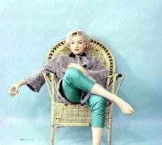 Marilyn Monroe. Wickerchair Sitting. Photography by Milton Greene.