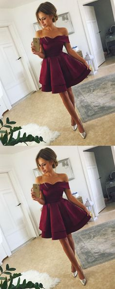 prom dress — burgundy short prom dress shop here