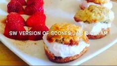 OMG they are amazing! You'll need oats HEB 1 egg 2 tbsp stevia or sweetener A few drops of flavouring, I used jam roly poly. Slimming Eats, Slimming World Recipes, Cream And Jam Scones, Slimming World Sweets, Baked Egg Custard, Sugar Free Jam, Jelly Recipes, Drink Recipes, Healthy Eating Recipes