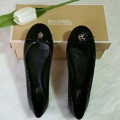 New AUTHENTIC Michael Kors Shoes. Brand new michael kors shoes never worn.  Size 7 Material : Patent  Smoke and pet free home  Happy shopping Michael Kors Shoes Flats & Loafers