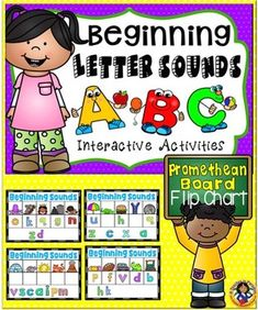 This download is a PROMETHEAN BOARD flip chart to be used with an interactive whiteboard or computer with the Activinspire program. Make sure you have the Activinspire program in order to use this download. This is an interactive activity for your little learners to practice their beginning sounds skills.The flip chart is easy to use; students will identify the beginning letter for each picture by placing the letter in the correct box.