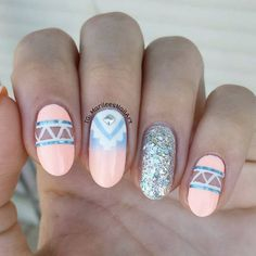 1458715111 negative space aztec nails by  marileesnailart