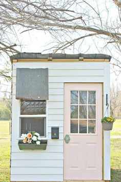 DIY Little Girl's Playhouse built with pallets, tin and faux shiplap! Completed for around $300. Full tutorial can be found at my website.  I began this project…