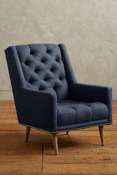Linen Booker Armchair #anthrofave