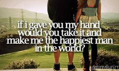 If I told you my heart couldn't beat one more minute without you girl.. Would You Go With Me - Josh Turner..