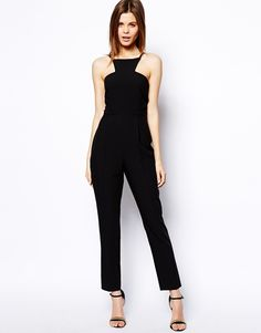 ASOS Jumpsuit with Racer Front Detail