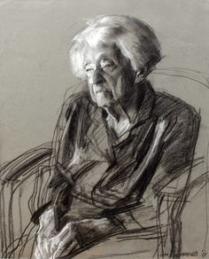 Robert Hannaford (1944 - ) | 103-years-charcoal-2011