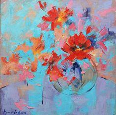 """Saatchi Art Artist Anastasiia Kraineva; Painting, """"Still life. Lovely May"""" #art"""