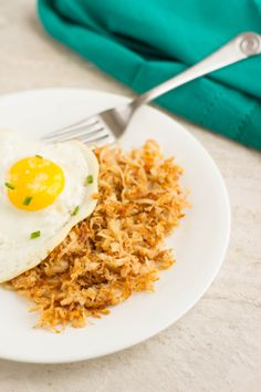 Celery Root Hash Browns--Recipe on Page 27 of the Squeaky Clean Paleo eBook #paleo #lowcarb