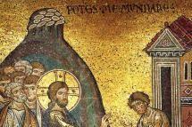 Jesús sana a un leproso. - Dominio público