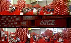Coca Cola upcycling pavilon en la Expo CIHAC por BNKR Arquitectura, Ciudad de México exposiciones de diseño ecológico