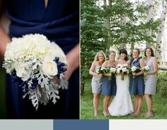 Slate blue and gray wedding colors