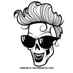 Skull pretty boy vector image