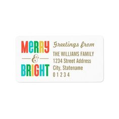 Merry & Bright | Holiday Address Labels