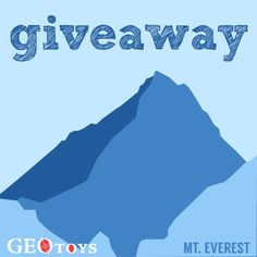 @GeoToys is helping us out w/ a Giveaway! Answer the Question and Share this post to be entered to win a GeoPuzzle!    Mount Everest is the highest mountain on the Asian continent and the highest mountain in the world. Which mountains (real or proverbial) have you climbed or would you like to climb one day?