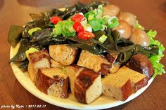 tofu and kelp #appetizer #Taiwanese cuisine
