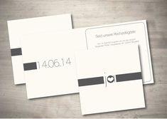 Schön Einladungskarte Hochzeit   Schlichte Eleganz