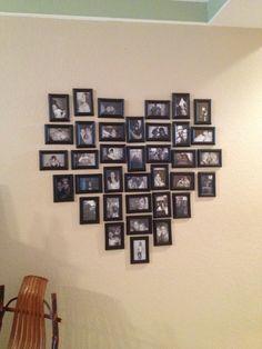 Heart photo wall