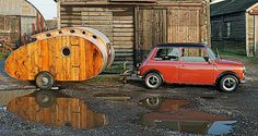 Teardrop camper trailer by Dave Moult is a mix of retrofuturism