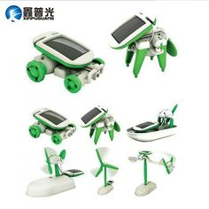Solar Power 6 in 1 Electronic Toys Robot Car Boat Dog Fan Plane Puppy Solar Power Facts, Solar Power Energy, Solar Car, Diy Solar, Kids Learning Toys, Landscape Arquitecture, Robot Kits, Science Toys, Electronic Toys
