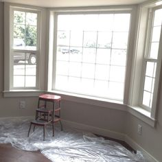 Woodrow Wilson Putty Lowe's Historical Line of paint Valspar Paint Colors, Gray Paint, Paint Colors For Home, House Painting, Getting Old, Windows, Grey, Wood, Instagram Posts