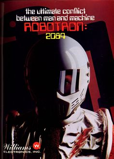 Robotron: 2084, found on Midway Arcade.  This was two years prior to Ahh-nold and The Terminator.