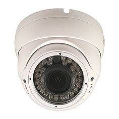 SVD 1000TVL SONY 14MP CMOS Sensor Turret Dome CCTV security camera 2812mm Varifocal Lens 100ft IR Range with 36PCS Infrared LED Wide Angle View Wide Dynamic Range WDR OSD Menu Color Day Night Vision IP66 Weatherproof and Vandal proof Indoor and Outdoor Metal Case White DC 12V * Check out the image by visiting the link.Note:It is affiliate link to Amazon.