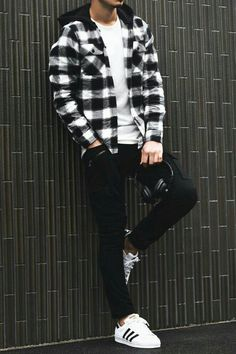 Cool Outfits For Men, Winter Outfits Men, Stylish Mens Outfits, Casual Outfits, Street Casual Men, Men Casual, Casual Menswear, Mode Outfits, Fashion Outfits