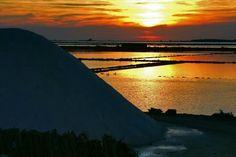 Marsala, sale, mare, sole, tramonto..... tramonto dai mille colori
