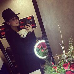 ddlovato's photo on Instagram - ddlovato    Buddy's first dressing room ❤️