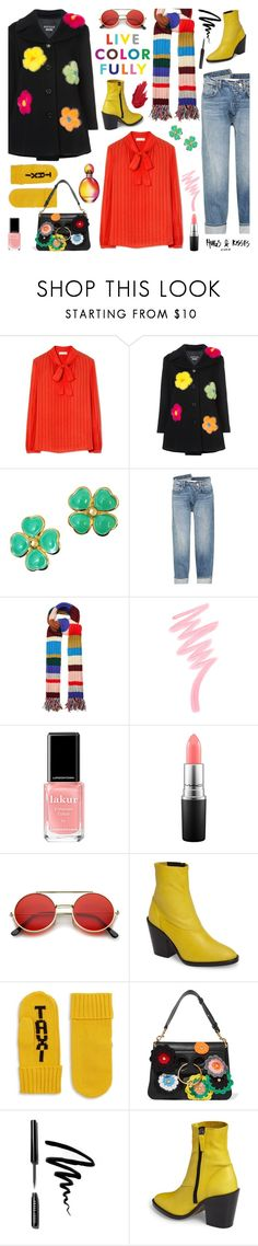 """My Resolutions: Stand Out! Shine! Be Colorful!"" by sproetje ❤ liked on Polyvore featuring Tory Burch, Boutique Moschino, Versace, Monse, Burberry, Victoria's Secret, Londontown, MAC Cosmetics, ZeroUV and Topshop"
