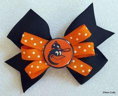 Baltimore Orioles Oriole Bird Orange & Black Grosgrain Ribbon Boutique Hair Bow, Barrette, Maryland MD O's Clip MLB Baseball Fan Gear by SmoreCrafty on Etsy