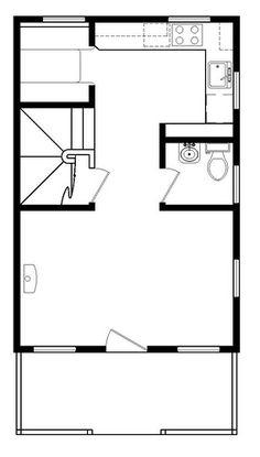 Tumbleweed Tiny House Company B 53 Floor Plan Downstairs