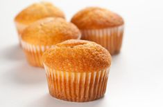 These triple lemon muffins have some serious citrus flavor. If your lemon love just won't quit, try making some lemon frosting to turn these muffins into quadruple lemon cupcakes! Lemon Frosting, Lemon Yogurt, Lemon Muffins, Lemon Cupcakes, Gabel, Beignets, Sweet Bread, Muffin Recipes, Biscuits