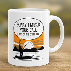 "Order Here ➡ https://onepunz.com/products/simycmug ☕ ""Sorry I Missed Your Call Coffee Mug"" ☕ ✨ Limited Edition. Not available in stores. ✨ :) Don't forget to tag someone who needs this! #fishing #flyfishing #fishinglife #fishingtrip #fishingboat #troutfishing #sportfishing #fishingislife #fishingpicoftheday #fishingdaily #riverfishing #freshwaterfishing #offshorefishing #deepseafishing #fishingaddict #lurefishing #lovefishing #fishingboats #instafishing"