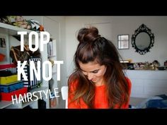 I'm taking top knots to whole new level. Learn how to create this super easy and stylish messy half-up top knot. It's perfect for day or night! {Follow me} B...